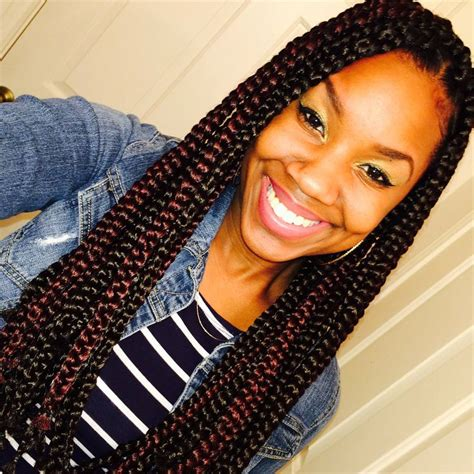 burgundy box braids medium box braids black and burgundy mix natural