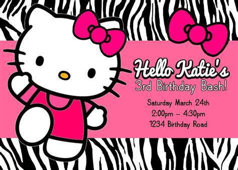 invitation card design online free free printable hello kitty birthday party invitations