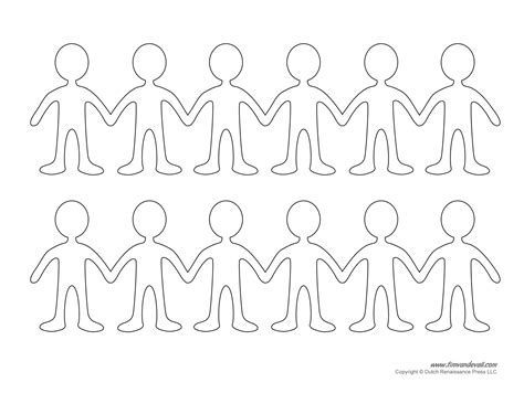 Paper Chain Dolls - printable paper doll templates make your own paper dolls