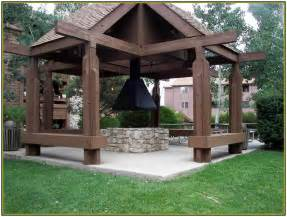 Gazebo With Fire Pit Ideas classic outdoor gazebo designs with fire pit idea picture