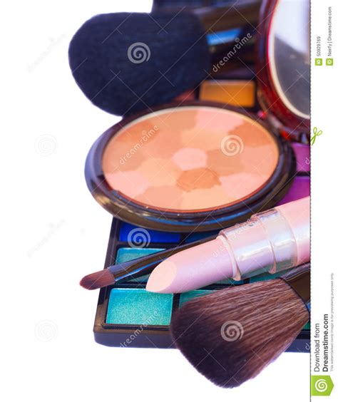 Weekend Roundup Lipstick Powder N Paint by Decorative Cosmetics Border Stock Image Cartoondealer