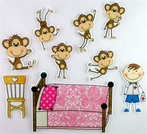 monkey jumping on the bed five little monkeys jumping on the bed felt board by bymaree
