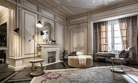 high end home decor neoclassical and deco features in two luxurious interiors
