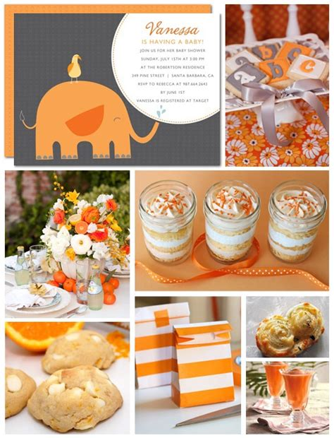 Orange Baby Shower Themes baby shower trusper