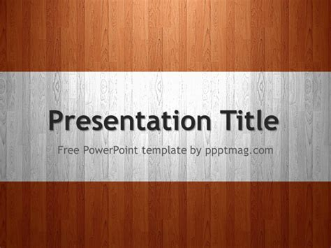 Free Wood PowerPoint Template   PPTMAG