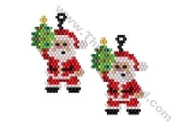 bead store santa santa with tree earring bead pattern by threadabead