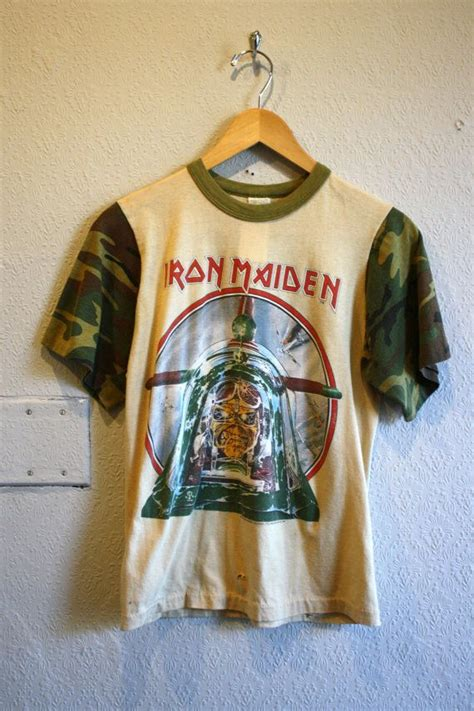 Iron On T Shirt Vintage vintage 1984 iron maiden t shirt clothes