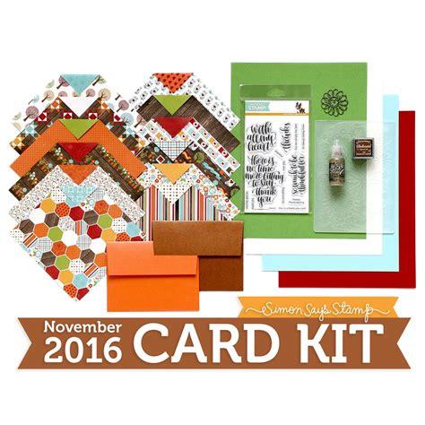 card kit november card kit