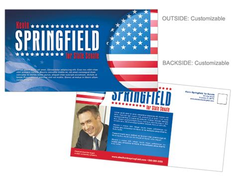Political Printing Imagemedia Com Election Postcard Template