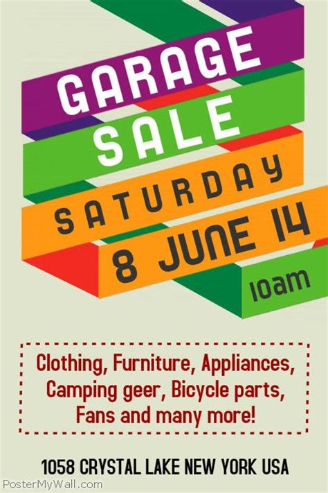 community yard sale flyer template google search yard