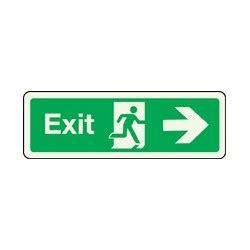 plaque plastique 3447 panneau exit photoluminescent droite stocksignes