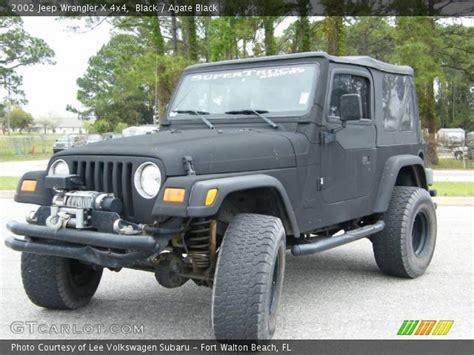 2002 Black Jeep Wrangler Black 2002 Jeep Wrangler X 4x4 Agate Black Interior
