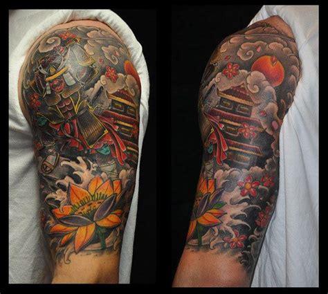 asian quarter sleeve tattoo depiction tattoo gallery tattoos color japanese half