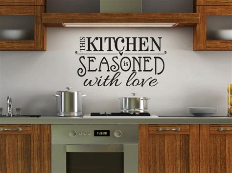 kitchen wall vinyl stickers this kitchen is seasoned with kitchen vinyl wall decal 20 00 via etsy for the home