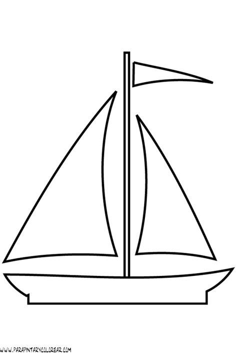 barcos sencillos para colorear dibujos para colorear de barcos con velas 002