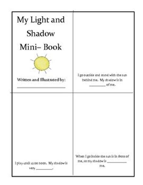 light and shadows lesson plans this is a free mini book on light and shadow the