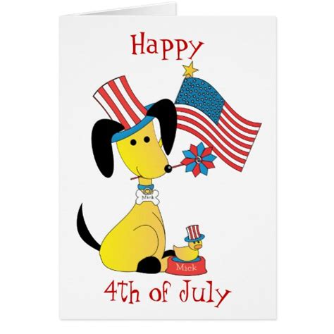 Fourth July Birthday Cards Mickjuly Happy 4th Of July Greeting Cards Zazzle