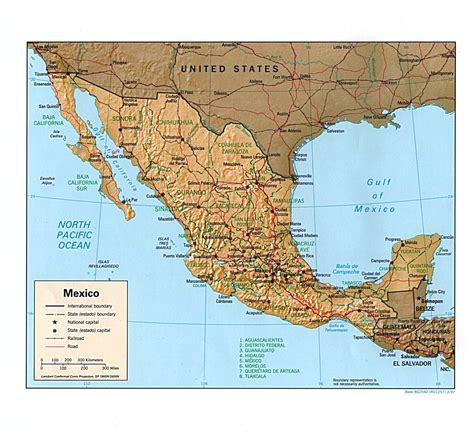 relief map of texas interopp org shaded relief map of mexico large 1997
