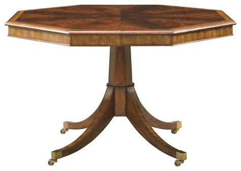 Octagon Dining Table Hickory White Octagonal Dining Table 890 14 Transitional Dining Tables By Benjamin Rugs