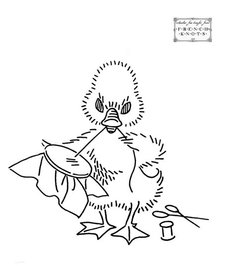 vintage embroidery pattern free free vintage baby duck embroidery transfer pattern