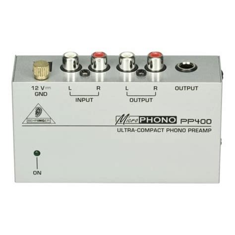 Behringer Phono Prelifiers Microphono Pp400 behringer pp400 microphono phono pre behringer from