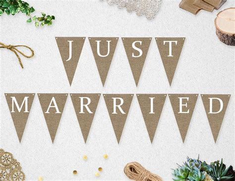 wedding banner diy printable just married banner instant wedding