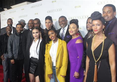 cast of with a pics the cast of quot greenleaf quot celebrate season 2 premiere in atlanta carpet