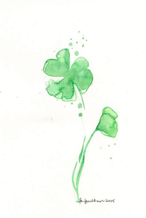 tattoo paper ireland watercolor painting watercolor flowers quot shamrock splash