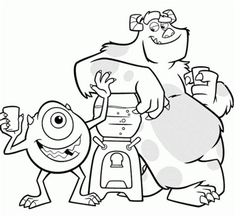 Dibujos Para Colorear E Imprimir De Monsters University Inc Dibujos A Color