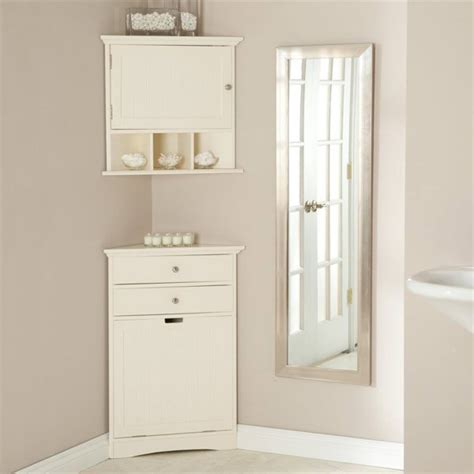 small bathroom corner wall cabinet