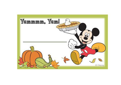 printable disney thanksgiving cards mickey and friends thanksgiving food labels disney family