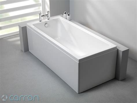 carron quantum single ended acrylic bath   mm
