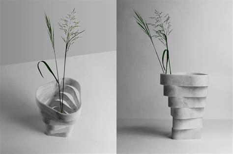vasi di marmo un vaso in marmo di carrara ad anelli sovrapposti