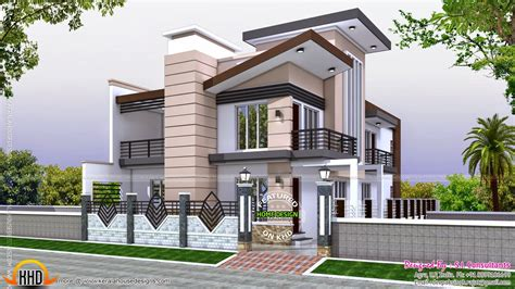 indian home modern style kerala home design and floor plans