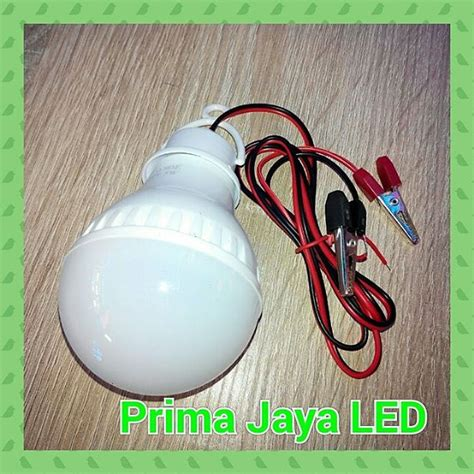 Lu Led Aki 5watt lu led kabel aki 5 watt prima jaya led