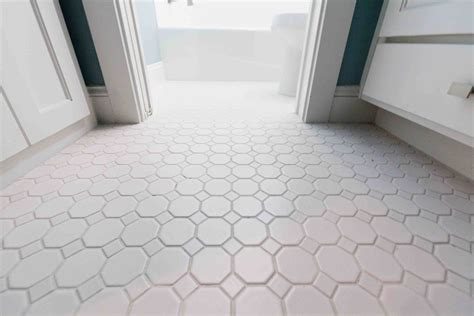 White Tile Bathroom Floor 30 pictures of octagon bathroom tile