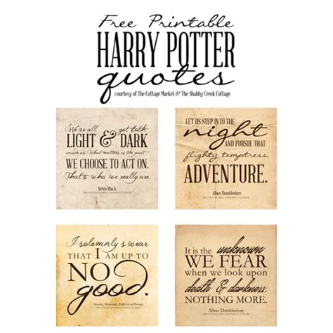 Harry Potter Birthday Quotes Free Harry Potter Quotes Printables One Velvet Morning