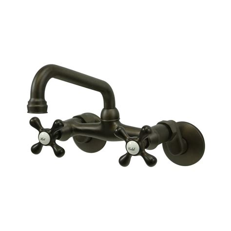 wall mounted kitchen faucets shop elements of design oil rubbed bronze 2 handle high
