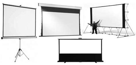 Proyektor Ukuran Besar jenis screen proyektor dimensidata