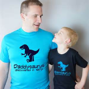 dad and child dinosaur t shirt set by simply colors