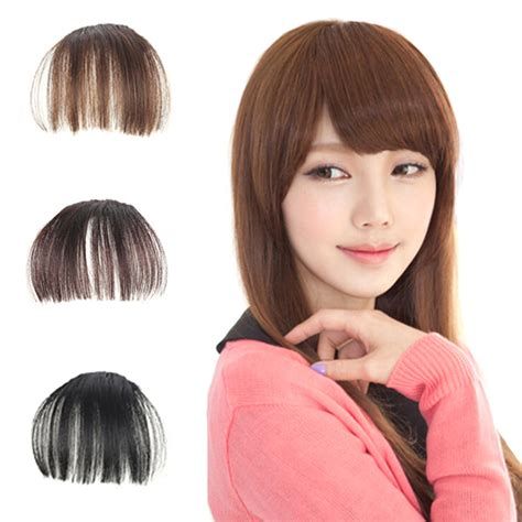 fake bangs clip for thin hair hair styling accessory false hair bangs fake hair