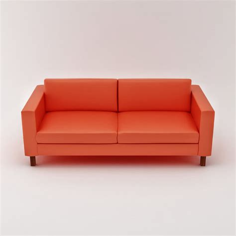 Ikea Karlstad Sofa Leather Karlstad Loveseat 3d Model