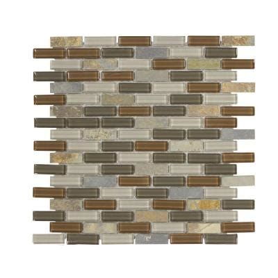 Home Depot Brick Tile by Mosaic Tile Trails End Mini Brick 11 875 In X 12 75 In