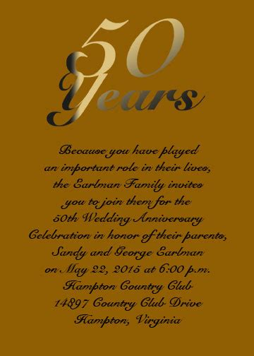50th Wedding Anniversary Card Verses by Golden Anniversary Card For Your 50th Anniversary Item