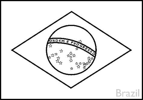 Flag Of Brazil Coloring Page colouring book of flags central and south america