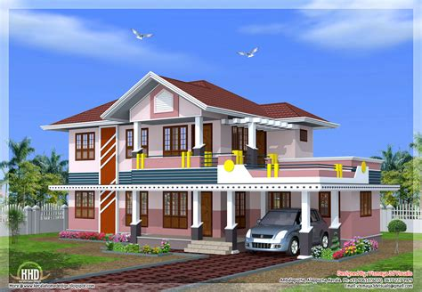 2239 Sq Feet 4 Bedroom Sloped Roof House Design Kerala Home Design And Floor Plans