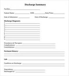 Discharge Form Template hospital discharge form word template excel template