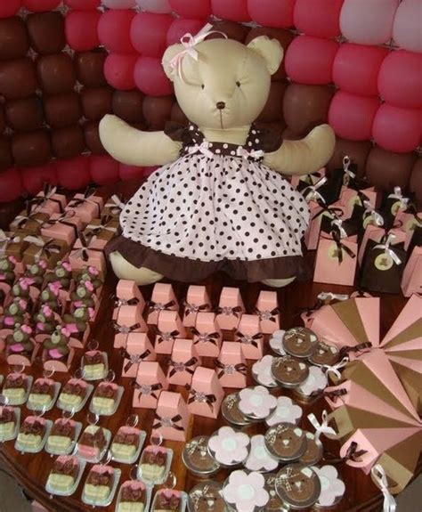 Pink And Brown Decorations by Pink And Brown Baby Shower Decorations Sorepointrecords