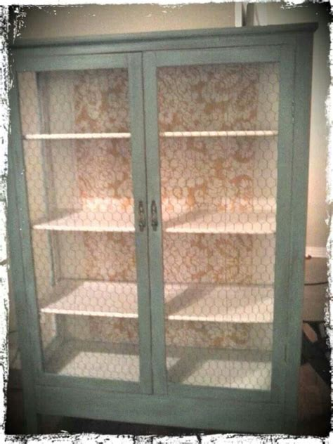 cabinet  chicken wire doors diy kitchen cabinets