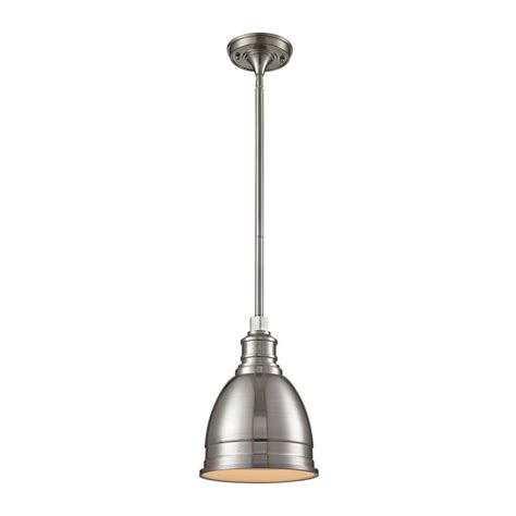 Stainless Steel Pendant Lights For Kitchen Pendant Lights Lowes Lowes Chandeliers Plus 1 Light Die Cast Aluminum Hardware Brushed